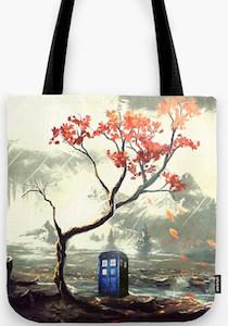Tardis And A Tree Tote Bag