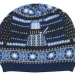 Christmas Tardis And Dalek Beanie Hat