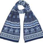Doctor Who Tardis and Dalek winter scarf