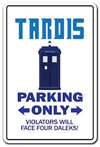 Tardis Parking Sign
