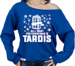 All I Want For Christmas Is Tardis Christmas Sweater Go Doctor Who