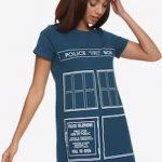 Doctor Who Tardis Door T-Shirt Dress