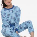 Women's Tardis Thermal Pajama Set