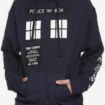 Dr Who Dark Blue Tardis Hoodie