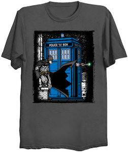 Batman Meets The Tardis And The Doctor T-Shirt