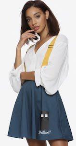 Brilliant Tardis Skirt With Yellow Suspenders