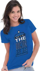 Tardis The Doctor Is in T-Shirt