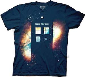 The Galaxy And The Tardis T-Shirt