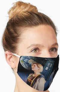 Galaxy The Doctor And The Tardis Face Mask