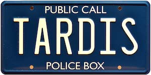 Doctor Who Tardis Metal License Plate