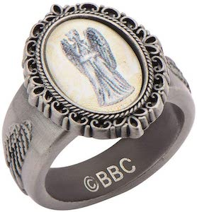 Weeping Angel Cameo Ring