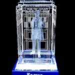 Doctor Who A Crystal Tardis With The 1st Doctor Inside It
