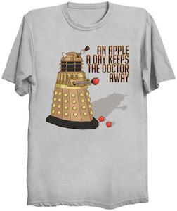 Dalek An Apple A Day Keeps The Doctor Away T-Shirt