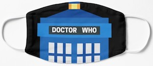 Doctor Who Top Of The Tardis Face Mask