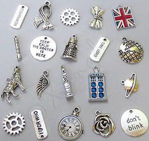 20 Piece Doctor Who Bracelet Charm Set