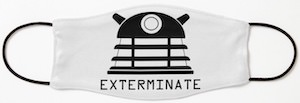 Doctor Who Dalek Exterminate Face Mask